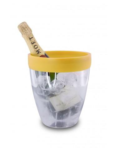 Silicone Ice Bucket Yellow
