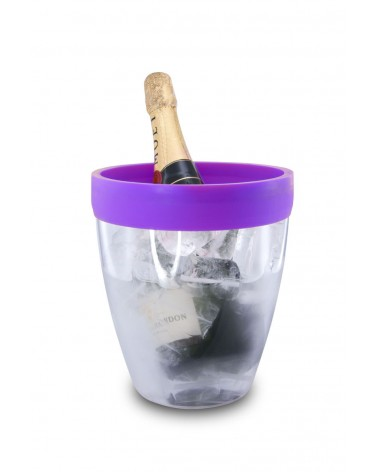 Silicone Ice Bucket Purple