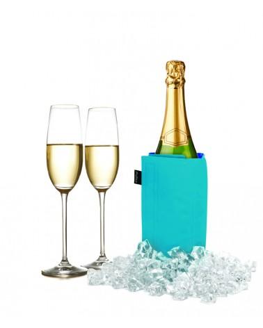 Manta enfriadora de vino y cava azul naval