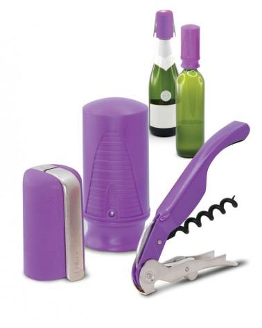 Set de vino y cava 3 piezas Violeta