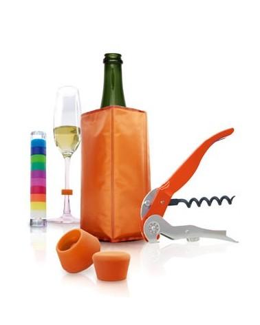 Set de vino y cava 5 piezas Naranja