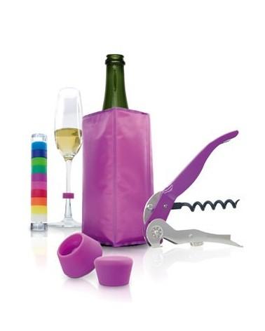 Set de vino y cava 5 piezas Purpura